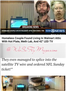 Homeless Couple Cooks Crystal Meth In Walmart attic