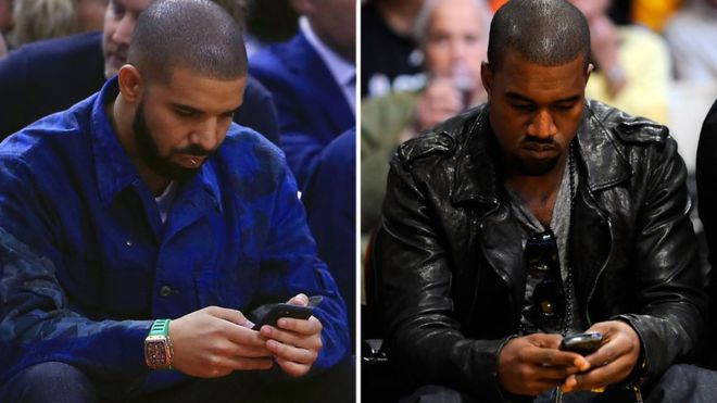 kanye west snitches on drake threatening him.