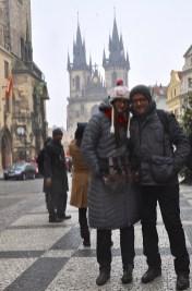 w drodze na targi świąteczne z moją świeżo poślubioną małżonką