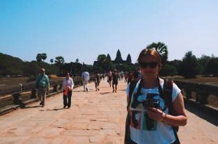 Madzia w drodze do głównej świątyni