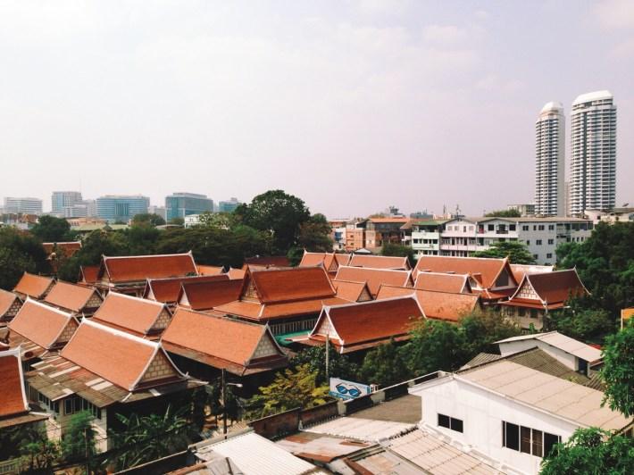 tutaj także nasza okolica widziana z dachu hotelu