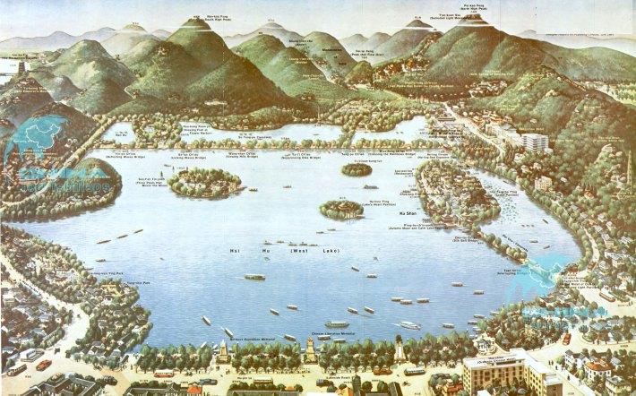 Jezioro Zachodnie w Hangzhou
