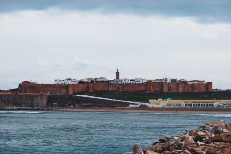 w oddali Sale - dawniej miasto piratów, obecnie sypialnia Rabatu
