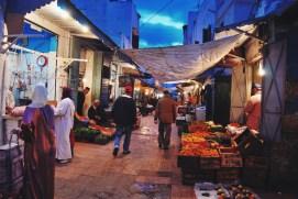 Rabat wieczorem