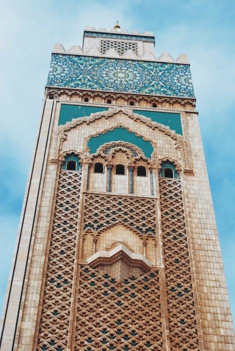 minaret meczetu w Casablance