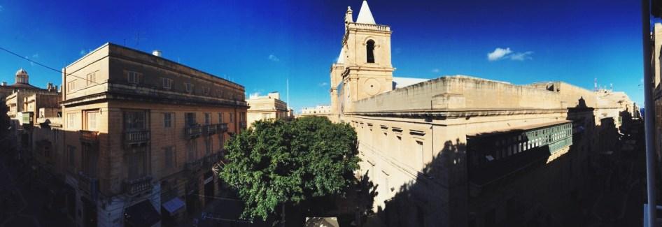 na balkonie naszego pokoju