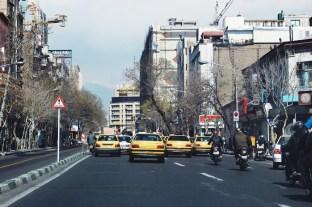 w stronę północnego Teheranu