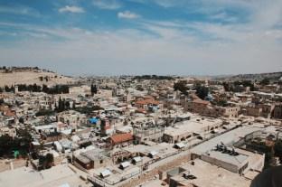 Widok na Jerozolimę z wieży Kościoła Zbawiciela