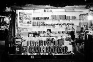 pośród sklepików w Siem Reap, Kambodża