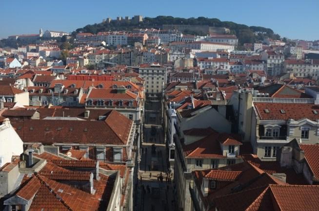 widok na Lizbonę z Elevador de Santa Justa