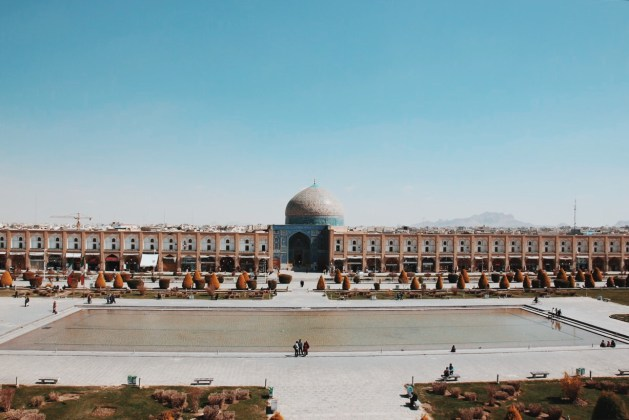 widok na plac imama z Pałacu Ali Qapu | zdjęcie Magdalena Garbacz-Wesołowska