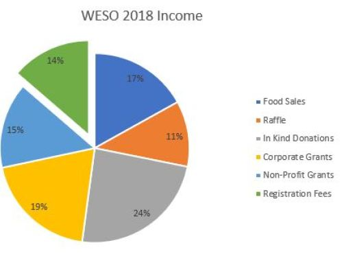 WESO 2018 Income Pie