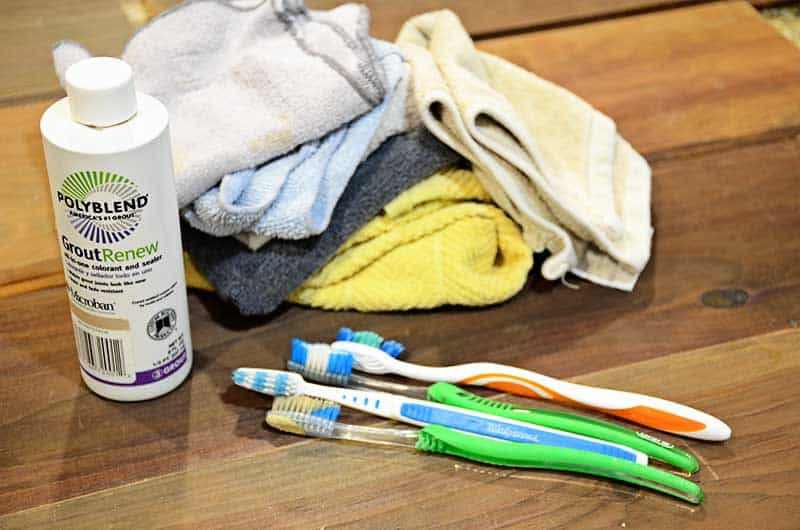 tools needed to restain grout