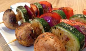 lekkere bbq groente spiesjes