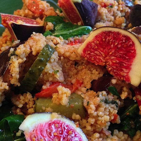 Quinoa met spinazie en vijgen