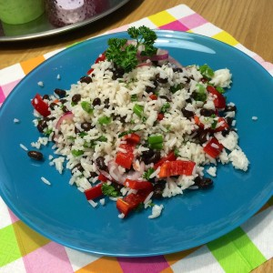 Zomere-rijstsalade-zwarte-bonen3