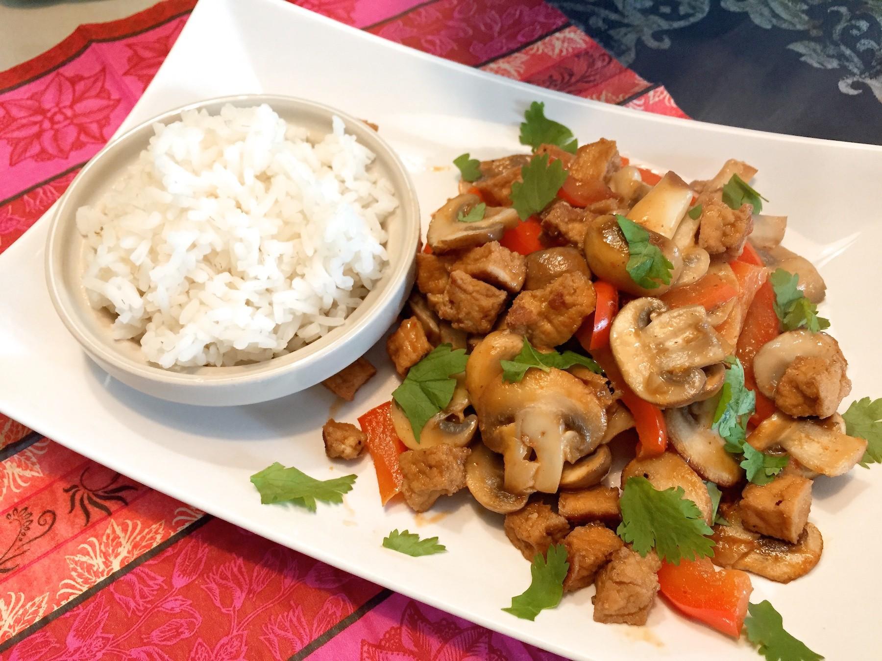 eindresultaat this curry met champignons