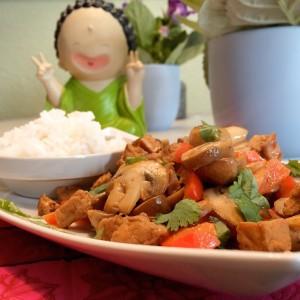 eindresultaat this curry met champignons en tofu