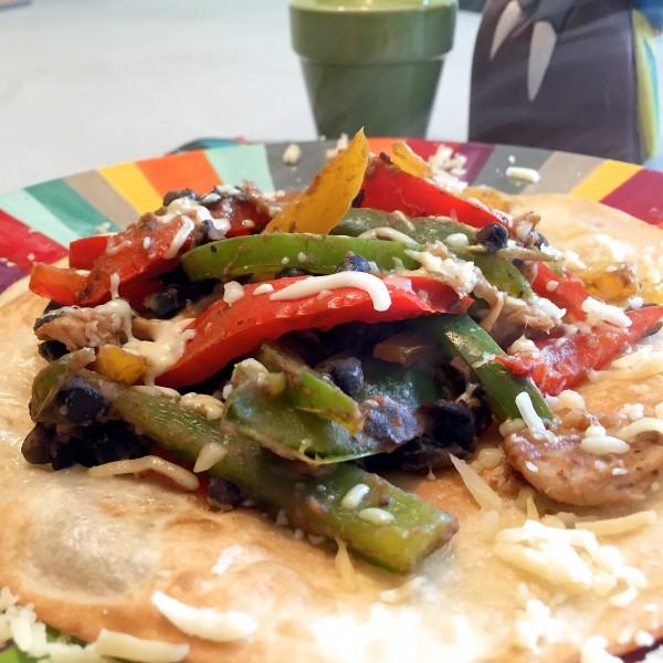 Crispy fajita's met zwarte bonen