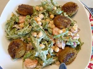 Eindresultaat kikkererwten salade
