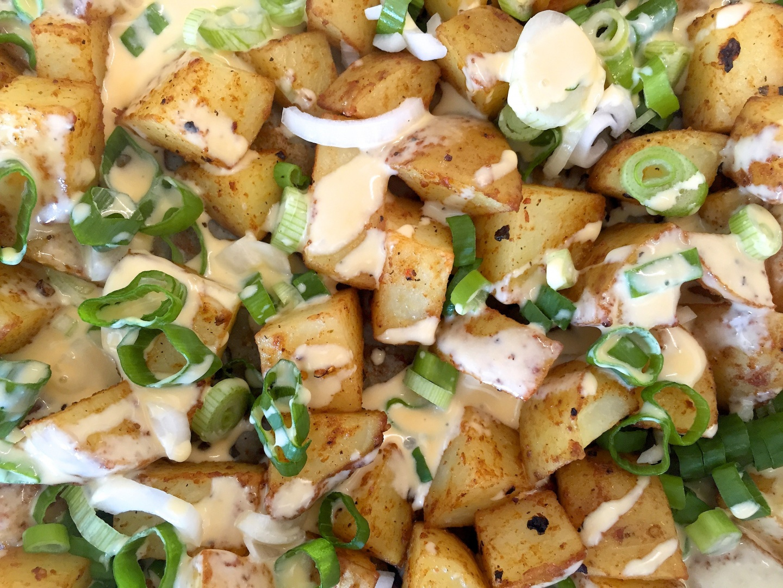 geroosterde aardappelblokjes uit Texas