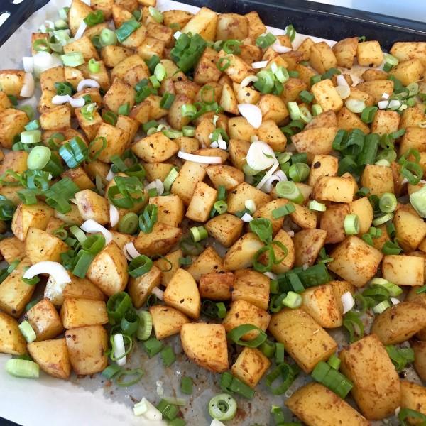 voorbeeld geroosterde aardappelblokjes