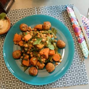 resultaat Zoete aardappel met kikkererwten