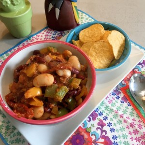 Zomerse Mexicaanse chili zonder vlees