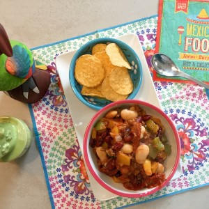 Eindresultaat Zomerse Mexicaanse chili zonder vlees