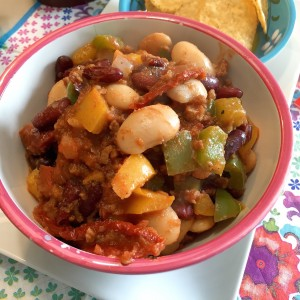 voorbeeld Zomerse Mexicaanse chili zonder vlees