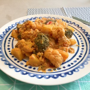 resultaat Aardappel groente curry