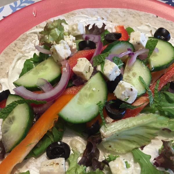 voorbeeld Griekse wrap met knapperige groenten