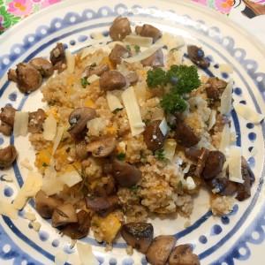 quinoa risotto met kaas en champignons
