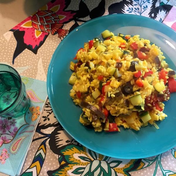 voorbeeld Paella uit Valencia (vegetarischP