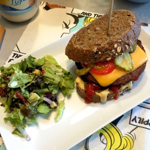 overheerlijke cheeseburger