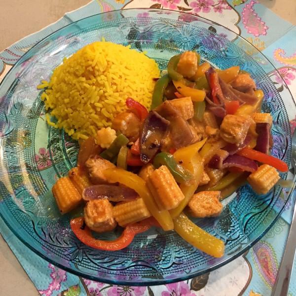 voorbeeld gele rijst thaise curry