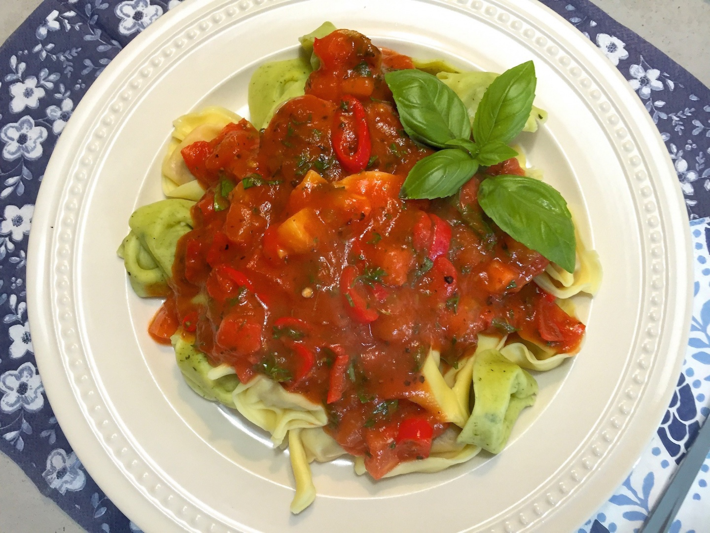 Pasta pomodoro basilicum
