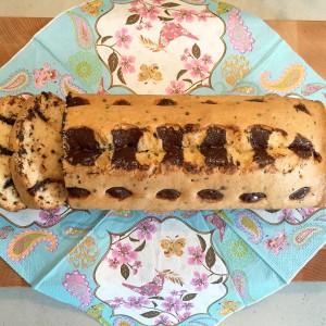 voorbeeld Stracciatella cake gebakken