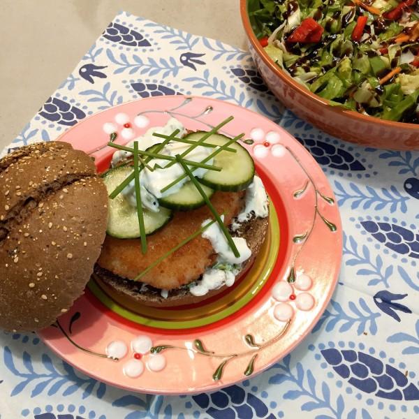 snelle en makkelijke visburger