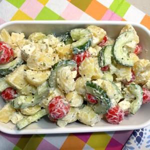 Griekse aardappelsalade 4
