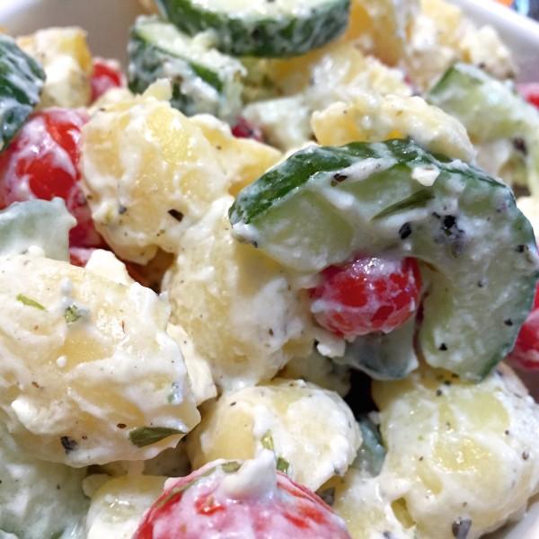 Griekse aardappelsalade 5