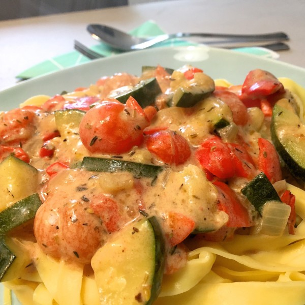 Tagliatelle met mediterraanse groenten 2