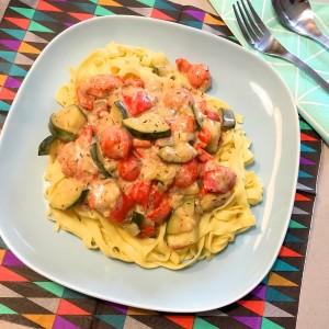Tagliatelle met mediterraanse groenten 4