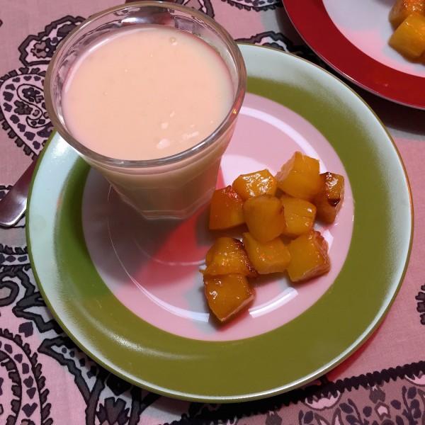 rijst dessert met gebakken ananas2
