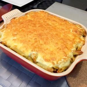 eindresultaat Penne Lasagne
