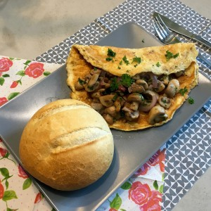 Voorbeeld champignon omelet