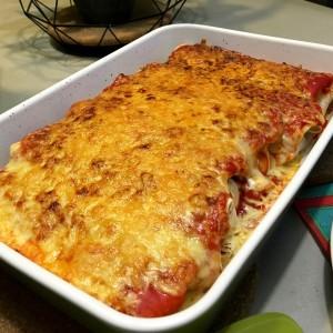 eind resultaat Gegratineerde Burrito's