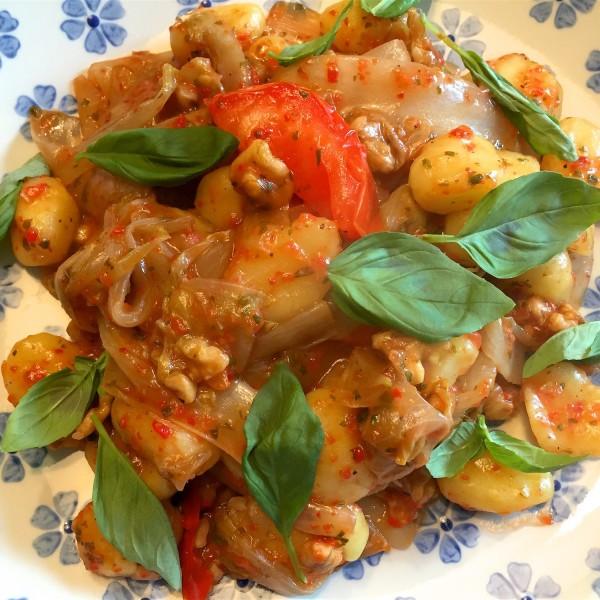 voorbeeld van lekkere gnocchi met witlof
