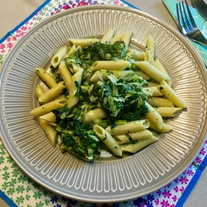 voorbeeld Frisse pasta met spinazie