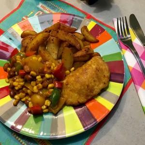 heerlijke Cajun aardappelpartjes